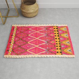 N212 - Pink Heritage Berber Boho Gypsy Traditional Moroccan Style Rug