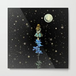 Wonderland Sky Viewing Time - Alice In Wonderland Metal Print