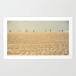 Beach on the sand Art Print
