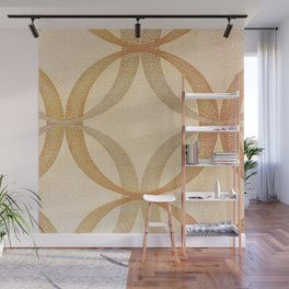 Circles Round Geometric Abstract Pattern Wall Mural