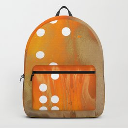 Orange Abstract Passion Backpack