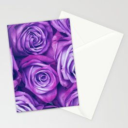 Purple Gothic Roses, Luxurious and Chic Stationery Cards