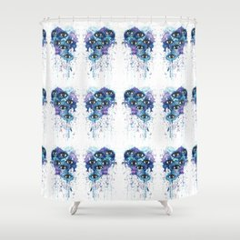 Space Eyes Shower Curtain