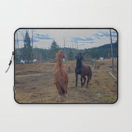 The Challenge - Ranch Horses Fighting Laptop Sleeve