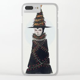 Yule Witch Clear iPhone Case