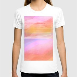Seascape in Shades of Peach Purple and Pink T-shirt
