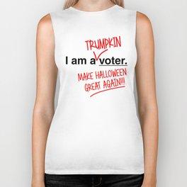 Trumpkin9 Is I Am A Voter. Make Halloween Great Again!!! T-Shirt Biker Tank