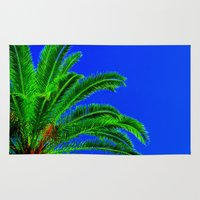 palm tree Area & Throw Rugs featuring Palm Tree by Phil Smyth