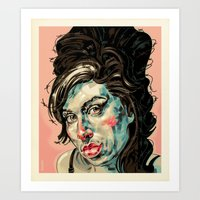 amy poehler Art Prints featuring Amy by Mark Bender