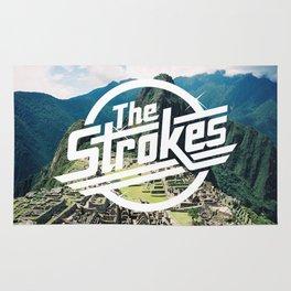The Strokes Logo Machu Picchu Rug
