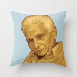 Jacques Derrida Throw Pillow