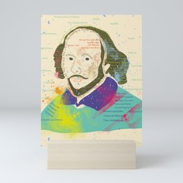 Portrait of William Shakespeare-Hand drawn Mini Art Print