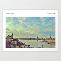 stockholm Art Prints featuring Stockholm by In Full Color