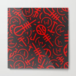 TØP Stickers - Red Metal Print