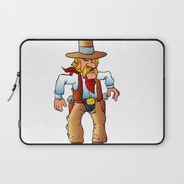 cowboy in duel cartoon Laptop Sleeve