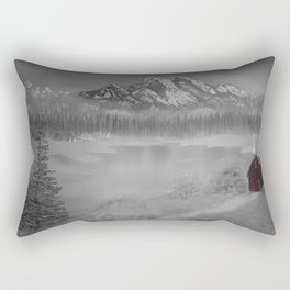 The red cabin Rectangular Pillow