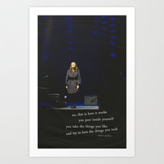 regina spektor live in toronto - on the radio Art Print