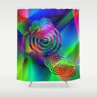"health Shower Curtains featuring "" The cheerfulness is half of the health""  by shiva camille"