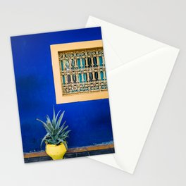 Moroccan Garden In Blue Stationery Cards