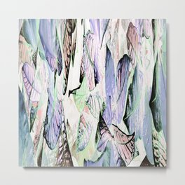 452 - Abstract leaves design Metal Print