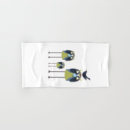 Long-Legged Owls Hand & Bath Towel