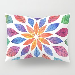 Rainbow Leaves Pillow Sham