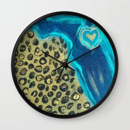 Florida Teal Love Wall Clock