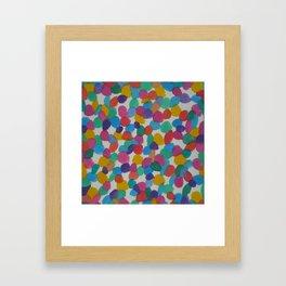 Rainbow Dots Abstract Watercolor Art Framed Art Print