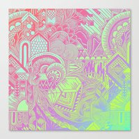 hologram Canvas Prints featuring Hologram Wave by michiko_design