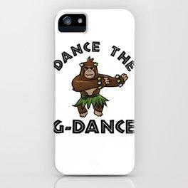 Gorilla Jungle Girl dancing flower gift iPhone Case