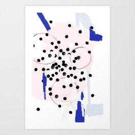 pastel confetti Art Print