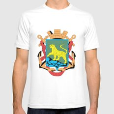 VLADIVOSTOK MEDIUM White Mens Fitted Tee