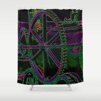 steam punk Shower Curtains featuring Steam Box by David  Gough
