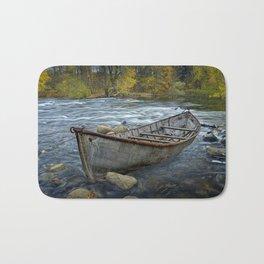 Canoe on the Thornapple River in Autumn Bath Mat