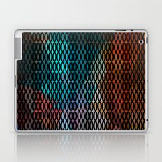 Abstract background of triangles polygon print. Bright dark design colors Laptop & iPad Skin