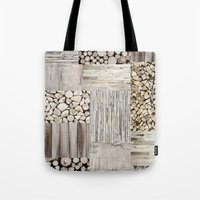 wood Tote Bags featuring Wood by LebensART