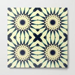 Tropical Paradise Flower Mandala Pattern Metal Print