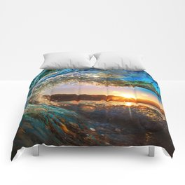 Beach - Waves - Ocean - Sun   Comforters