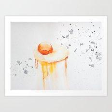 Raw Egg Art Print