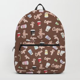Coffee lovers pattern Backpack
