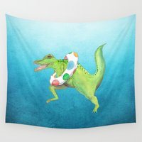 swim Wall Tapestries featuring Swim Team by Catherine Holcombe