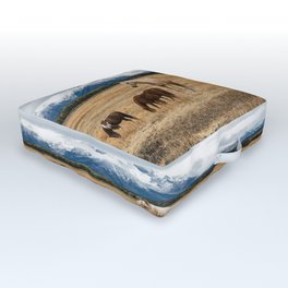 Mountain Horse - Western Style in the Grand Tetons Outdoor Floor Cushion