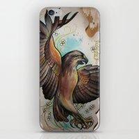 hawk iPhone & iPod Skins featuring Hawk by ChaniMurat