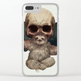 Sloths, Goths, and Moths Clear iPhone Case
