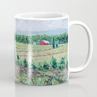 battlefield Mugs featuring Gettysburg Farm by Ann Marie Coolick