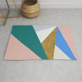 Contemporary Triangle Digital Print Rug