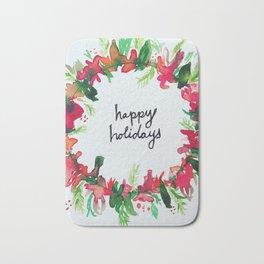 Happy Holidays Bath Mat