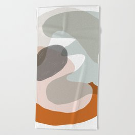 Shapes and Layers no.15 - soft neutral colors Beach Towel