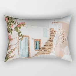 Santorini Greece Rectangular Pillow