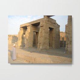 Guard at Karnak Temples in Karnak, Egypt  (2005) Metal Print